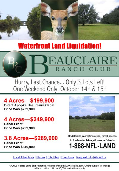 Beauclaire Ranch Club Email Newsletter