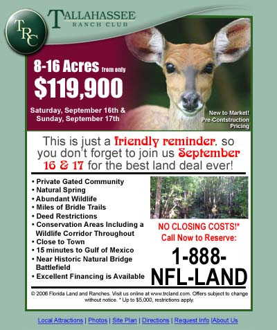 Tallahasse Ranch Club Email Newsletter