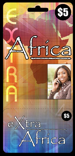 Extra Africa Calling Card