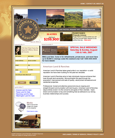 American Land & Ranches Home Page