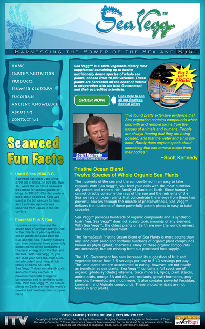 Sea Vegg Home Page