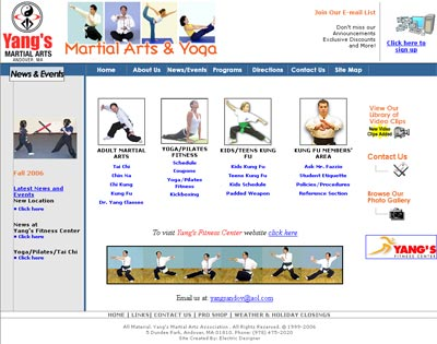 Yangs Martial Arts and Fitness Home Page
